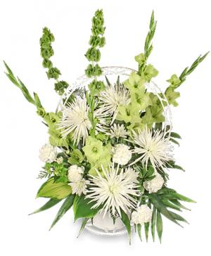 Everlasting Faith Funeral Basket in Mobile, AL | ZIMLICH THE FLORIST