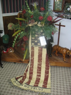 Patriotic Blanket Custom floral in Branford, FL | The Flower Shop
