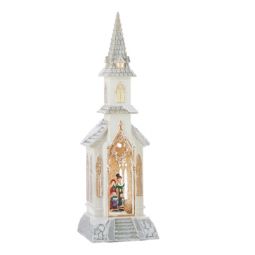 "18.5"" Caroler Lighted Water Church SOLD OUT"