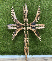 """18"""" Double Winged Clothespin Cross"""