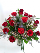 18 Long Stem  Roses Arrangement  Roses