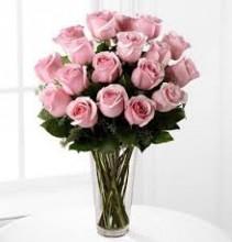 18 - 24  PINK ROSES Vase Arrangement