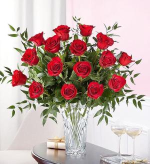 Marquis 18 Red Roses Premium Rose Arrnagement in Springfield, MO | FLOWERAMA #226