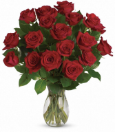 18 Premium Red Rose Arrangement