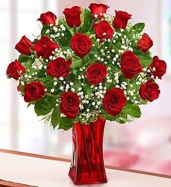 18 Radiant Roses Red Roses Arrangement