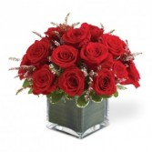 18 Red Roses In Vase