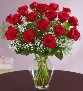 18 Red Roses Rose Vase