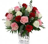 18 roses in a vase