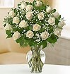 18 stems white rose valentine