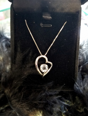 "18"" Sterling chain & Heart Pendant Gift-Necklace in Hesperia, CA 