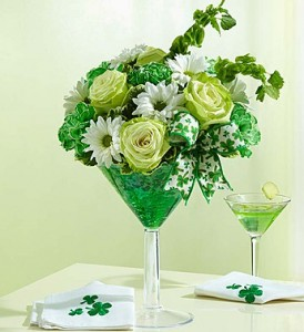 Green Dublin Cocktail Tipsy Arrangement in Sutton, MA | POSIES 'N PRESENTS