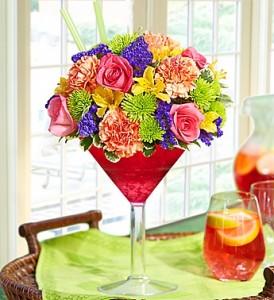 1800 Flowers Sangria Bouquet Summer Arrangement