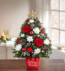 1800 Merry Christmas - Holiday Flower Tree