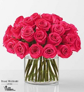 Hot Pink Bouquet  - 18 or 24 roses Rose Arrangement