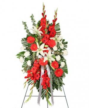 REVERENT RED Funeral Flowers in Mobile, AL | ZIMLICH THE FLORIST