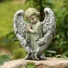 18928 boy angel with open wings