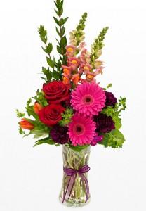 Splash of color fresh water vase