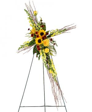 SUNFLOWERS OF FAITH Funeral Flowers in Gig Harbor, WA | GIG HARBOR FLORIST TM- FLOWERS BY THE BAY LLC