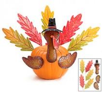Turkey Decorated Fresh Pumpkin Gift Item