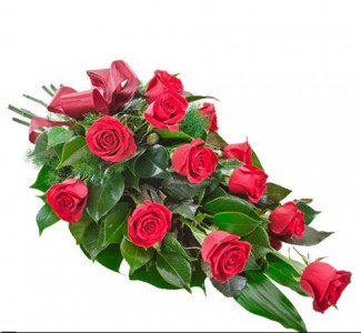 1Dozen Red Rose Presentation Bouquet Presentation Bouquet