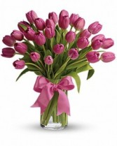 Elegant Tulips         vased tulips