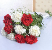 2 Dozen Carnation Valentine Mix Bouquet Wrapped