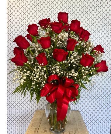 2 Dozen long stemmed roses