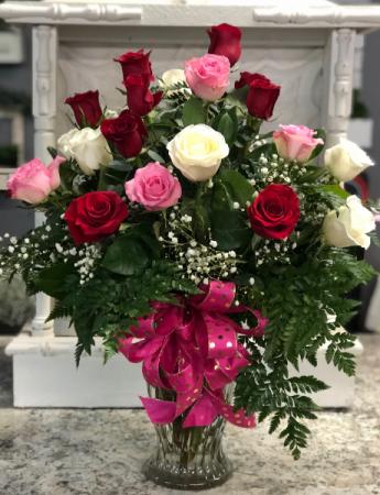 2 dozen Mixed 2 dozen roses mixed