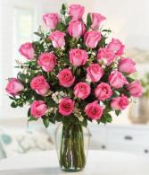 2 Dozen Pink Roses