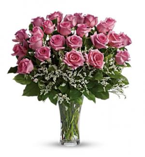 2 Dozen Pink Roses Arrangement in San Bernardino, CA | INLAND BOUQUET FLORIST
