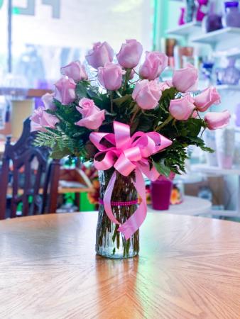 2 Dozen Pink Roses Floral Arrangement