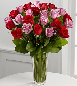 2 DOZEN RED AND PINK ROSES RED AND PINK ROSES