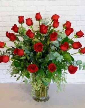 2 Dozen Rose Bouquet  Any day  in Muscle Shoals, AL | Sunflowers Designs & Garden