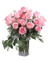 2 Dozen Roses Any Color Vased Arrangement
