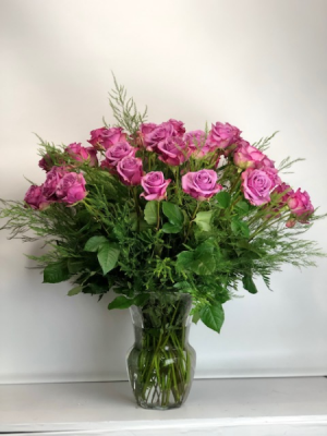 3 Dozen Roses  Vase Arrangement in North Bend, OR | PETAL TO THE METAL FLOWERS