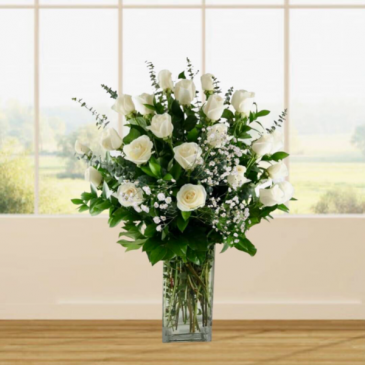 2 Dozen White Roses