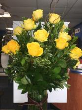 2 Dozen Yellow Roses Arrangement