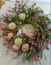 #2 Large  silk wreath only one available on sale now