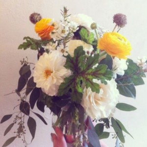 Botany Boho Summertime Mason Jar Arrangement