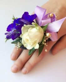 #2 Purple Ring Corsage  Prom Corsage