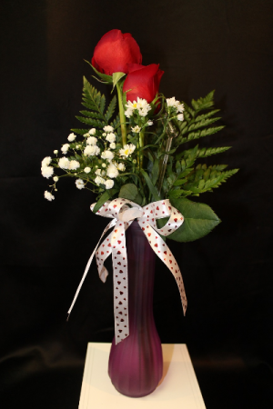 2 RED ROSES Valentine's Day