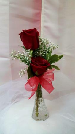 2 Rose In Vase