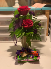 2 rose with candy Every day