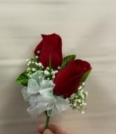 2 Standard Rose corsage