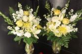 2 sympathy vases