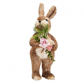 "20"" Bunny Decoration with Flowers"
