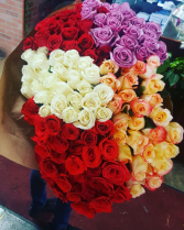 200 multi color rose bouq