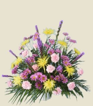 MIXED FRESH FLOWERS Sympathy Tribute