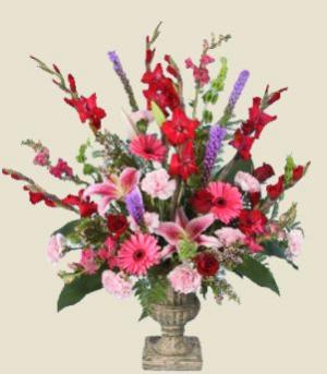 CLASSIC REMEMBRANCE URN of Funeral Flowers in Fulton, NY | DeVine Designs