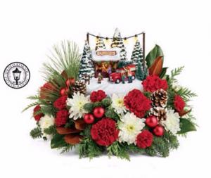2017 Thomas Kinkade's  Christmas Arrangement in Winston Salem, NC   RAE'S NORTH POINT FLORIST INC.